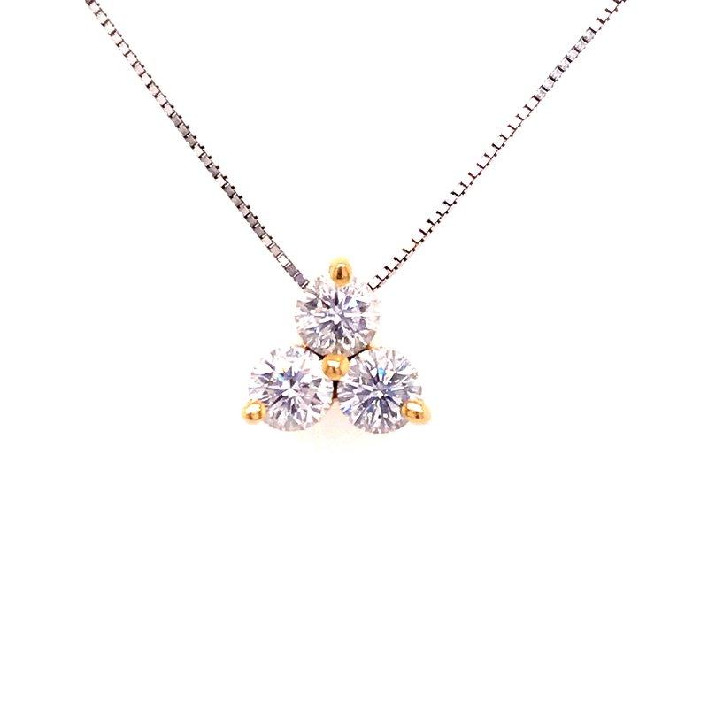 Diamond Fashion Three Diamond Fashion Pendant