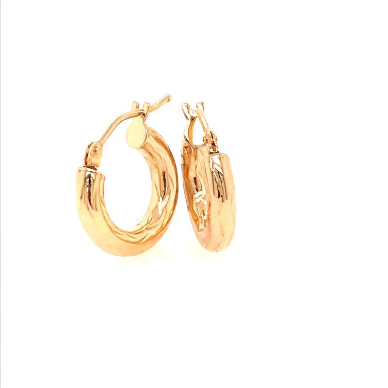 Gold Fashion Hoop Earrings