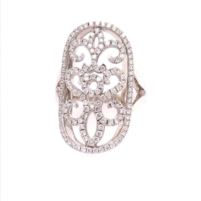 Diamond Fashion Long Oval Ring