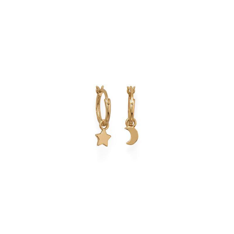 Fashion Jewelry Moon & Star Earrings