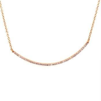 Diamond Bar Fashion Necklace