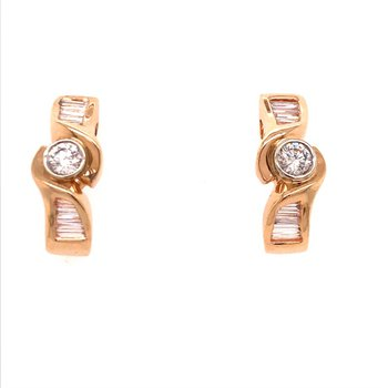 Diamond Half Hoop Earrings