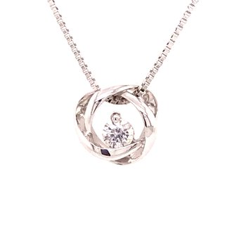 Time and Eternity Diamond Pendant