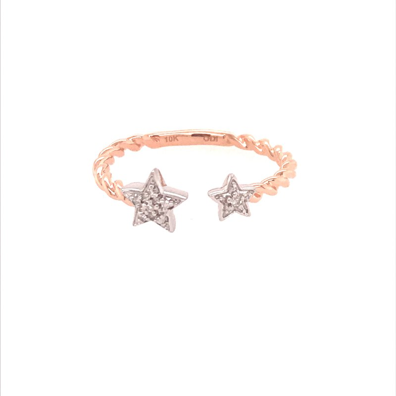 Diamond Fashion Double Star Ring