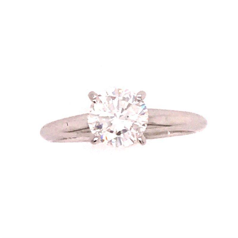 Dean's Signature Round Diamond Solitaire Engagement Ring