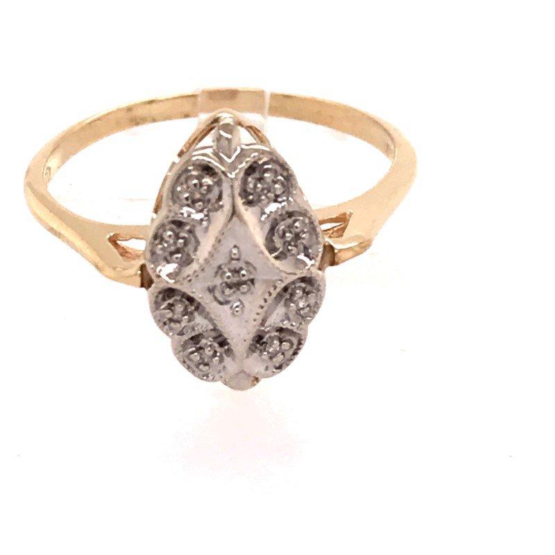Estate Oval Filigree Diamond Fashion Ring