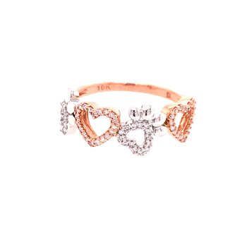 Paw Print and Heart Ring