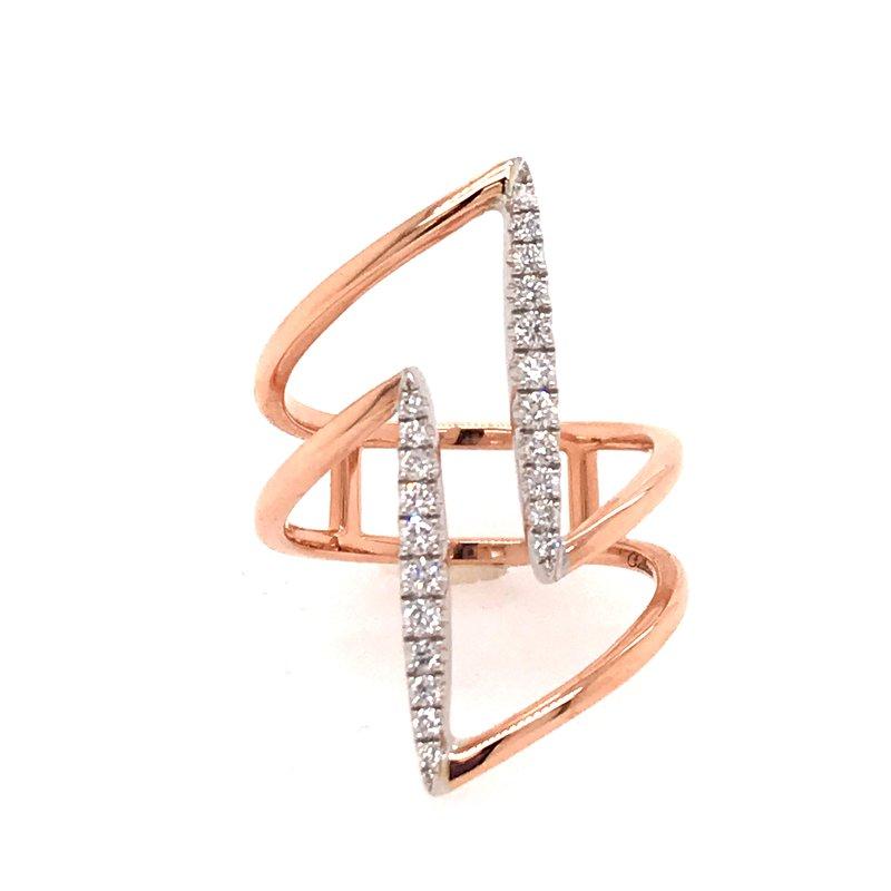 Diamond Fashion Open Design Ring