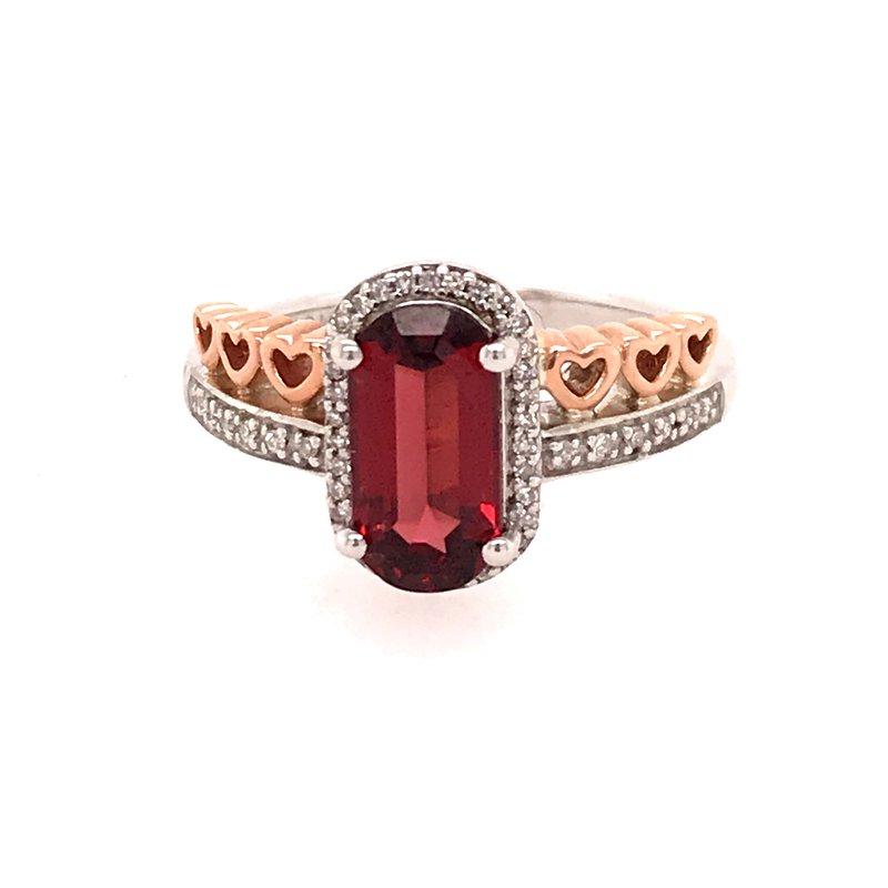 Colored Stone Fashion Garnet Fashion Ring