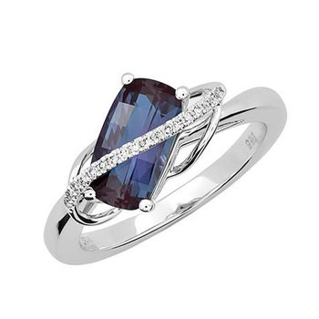 Created Alexandrite Fashion Ring