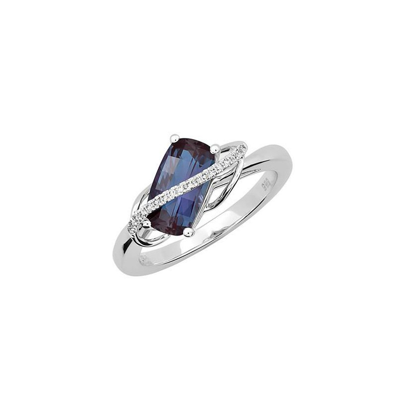Colored Stone Fashion Created Alexandrite Fashion Ring
