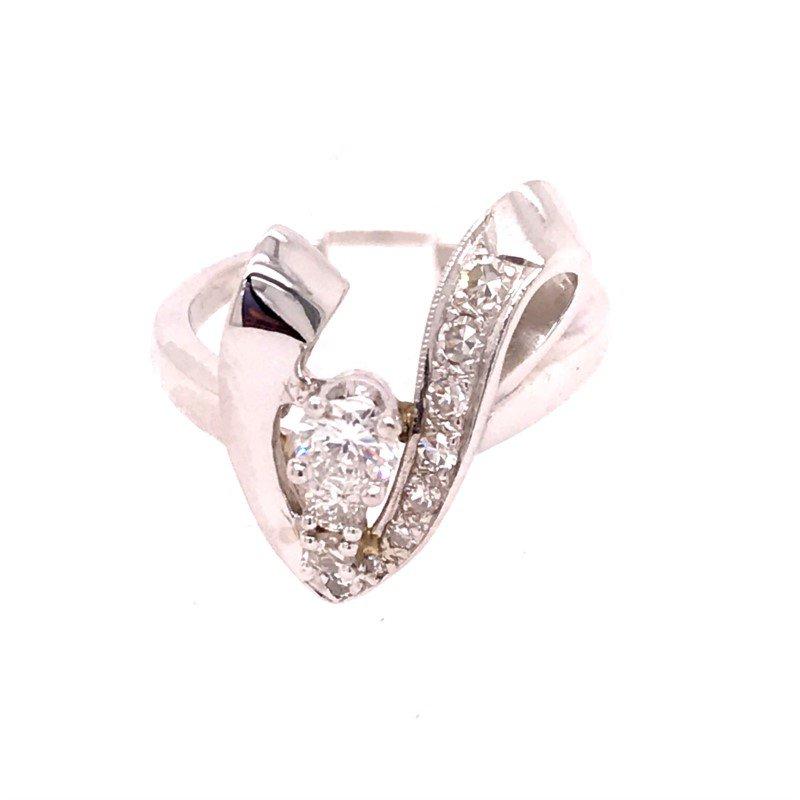 Estate Diamond Freeform Fashion Ring