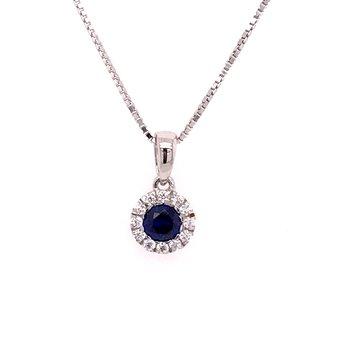 Created Sapphire Pendant
