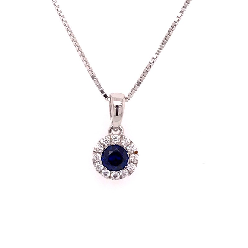 Colored Stone Fashion Created Sapphire Pendant