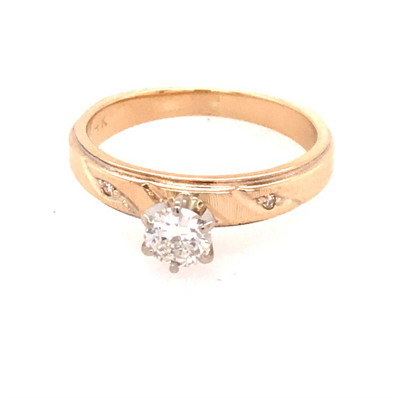 Estate Diamond Solitaire Engagement Ring