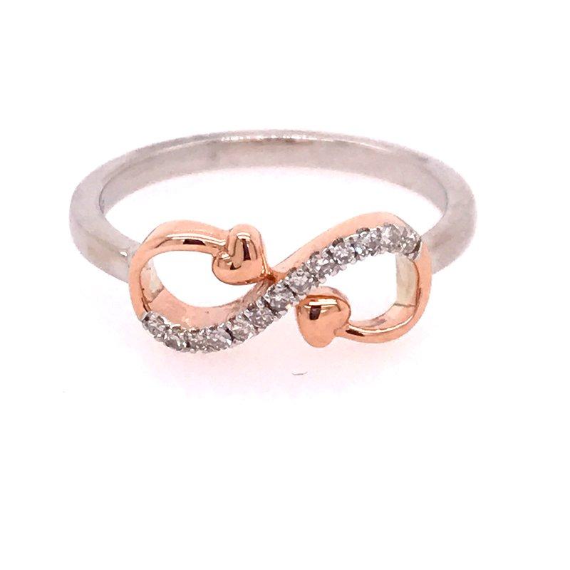 Diamond Fashion Heart Infinity Ring