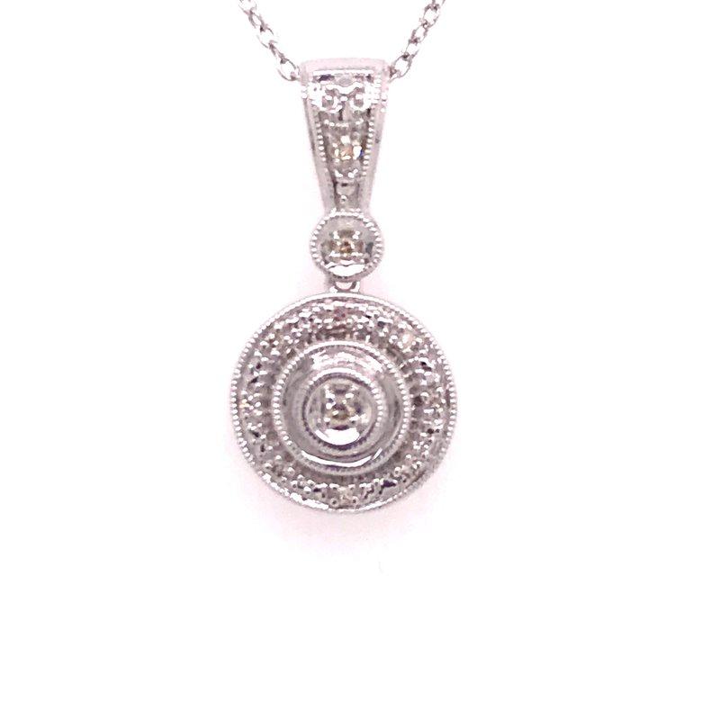 Diamond Fashion Round Pendant