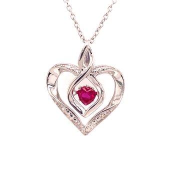 Created Ruby & Diamond Pendant