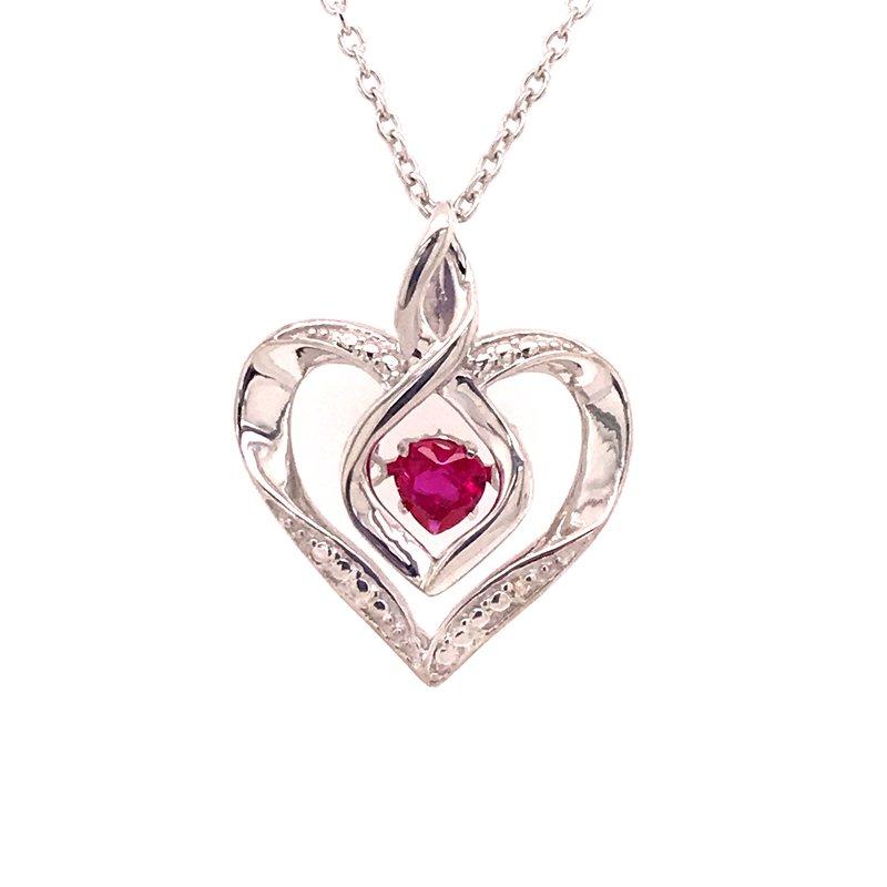 Colored Stone Fashion Created Ruby & Diamond Pendant