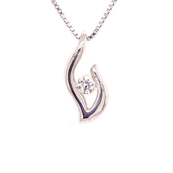 Eternal Flame Diamond Pendant