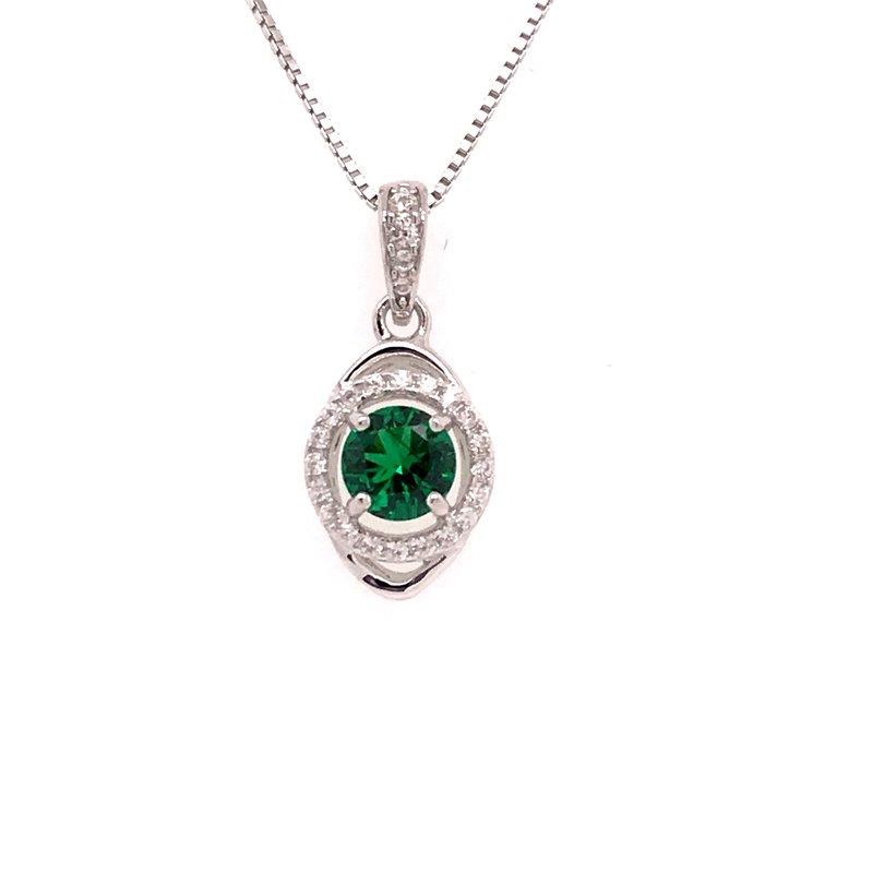 Colored Stone Fashion Emerald Pendant
