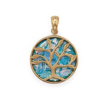 Family Tree Glass Pendant