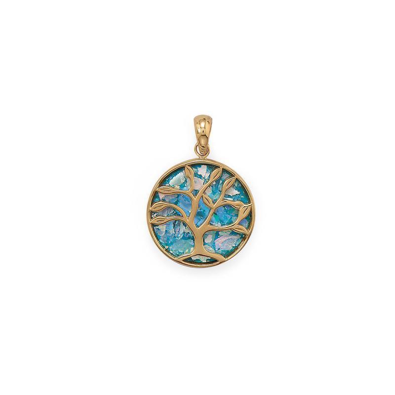Fashion Jewelry Family Tree Glass Pendant