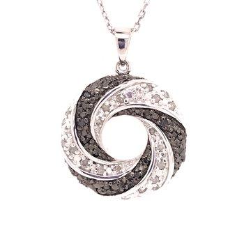 Black and White Diamond Fashion Pendant