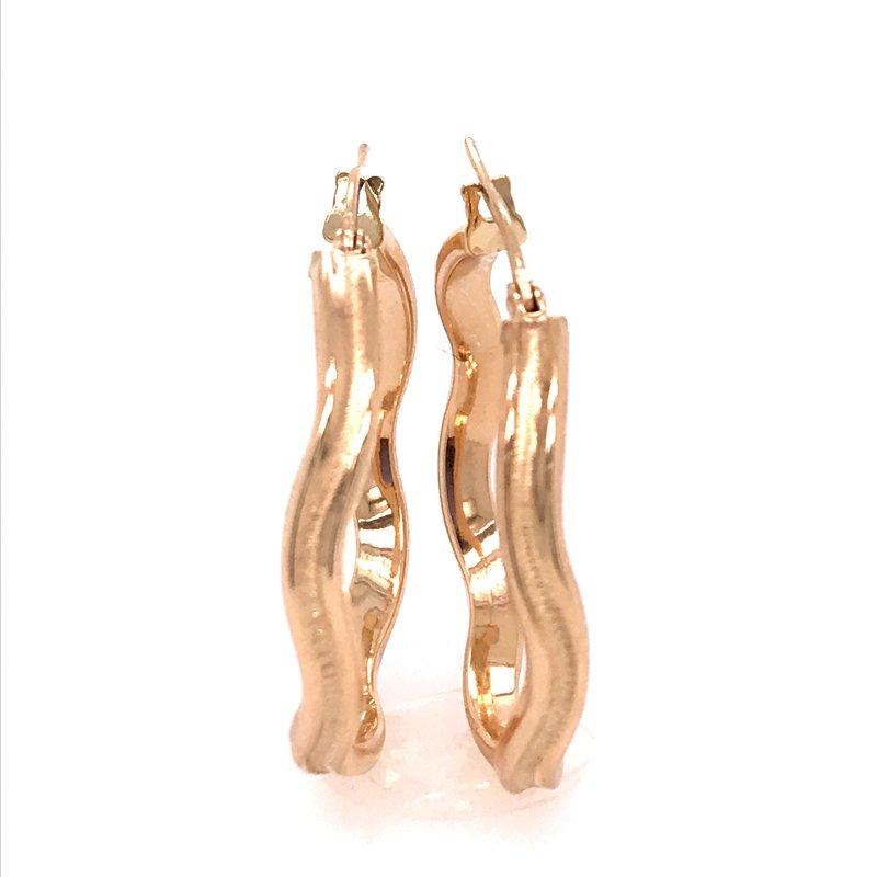 Gold Fashion Twist Hoop Earrings