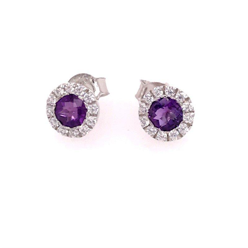 Diamond Fashion Colorstone Earrings