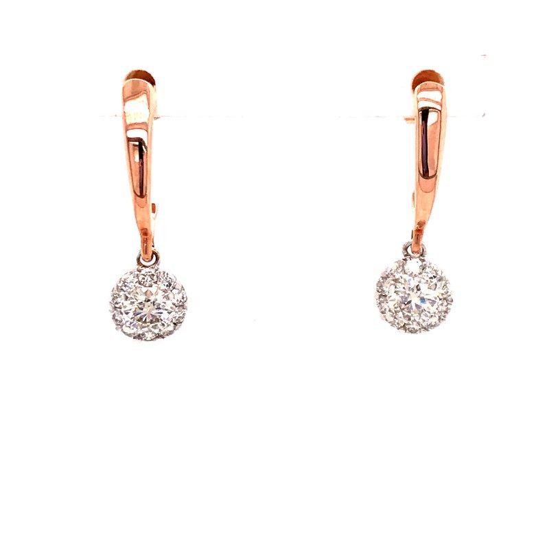 Diamond Fashion Halo Dangle Earrings