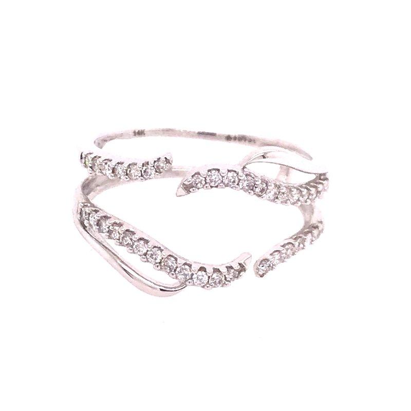 Dean's Bridal Diamond Wedding Band Insert Ring