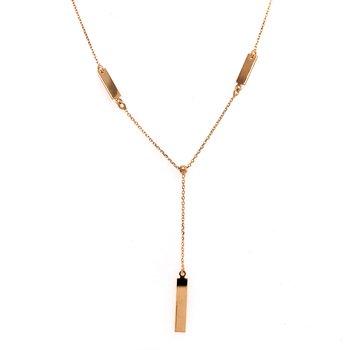 Adjustable Bar Drop Necklace
