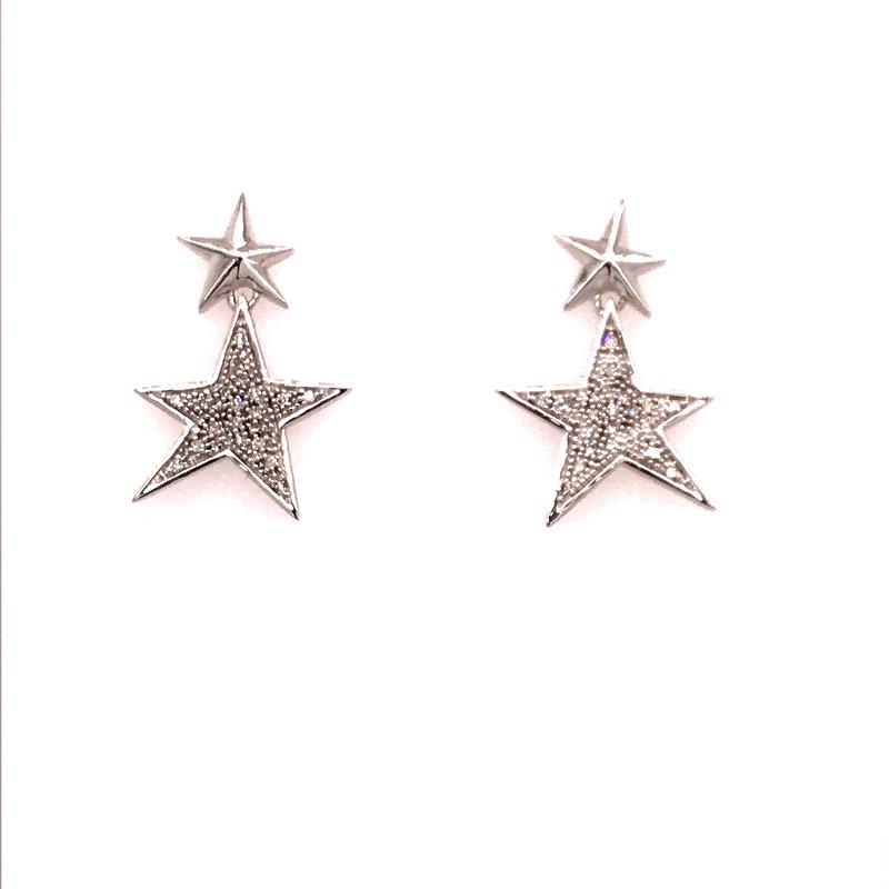 Diamond Fashion Star Diamond Earrings