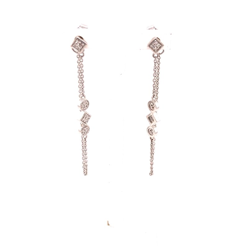 Diamond Fashion Chain Dangle Earrings