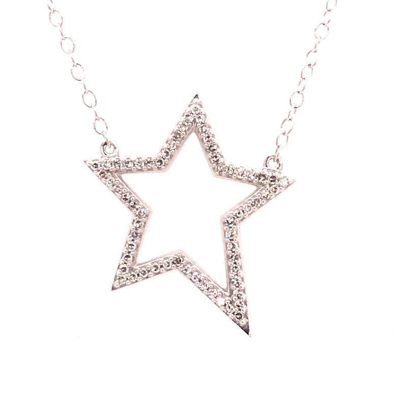 Diamond Fashion Star Diamond Pendant
