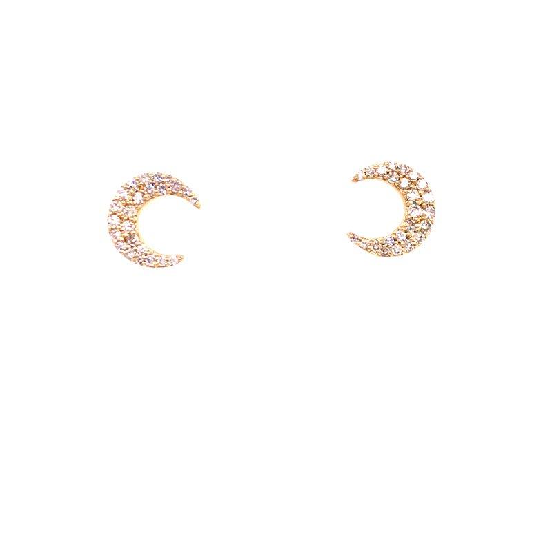 Diamond Fashion Crescent Moon Diamond Earrings