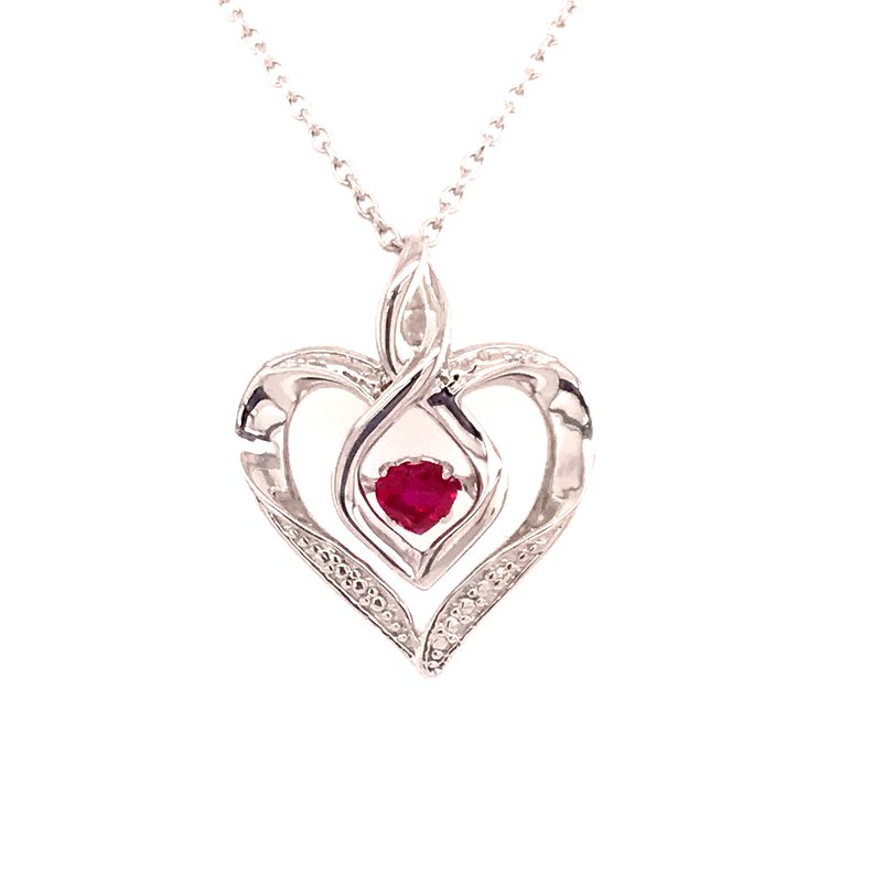 Colored Stone Fashion Created Pink Tourmaline & Diamond Pendant