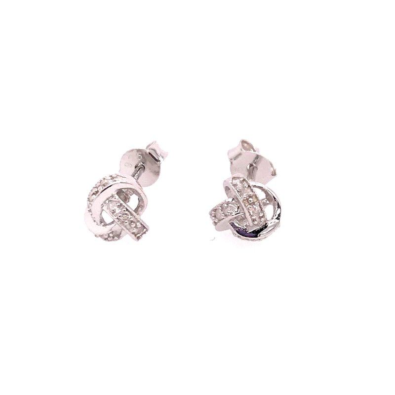 Diamond Fashion Love Knot Earrings