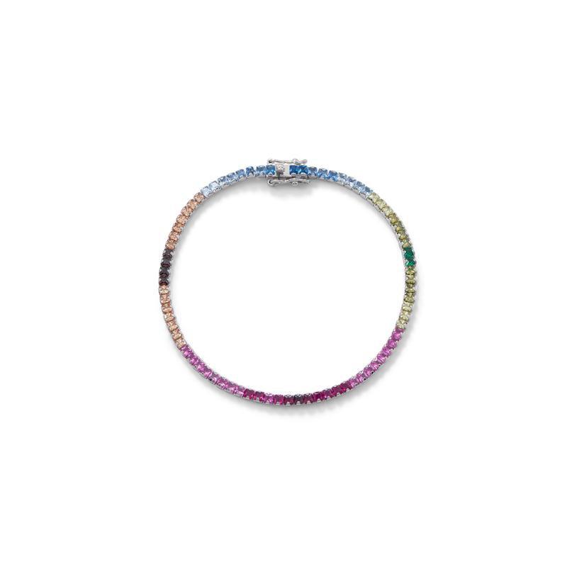 Colored Stone Fashion Rainbow Bracelet