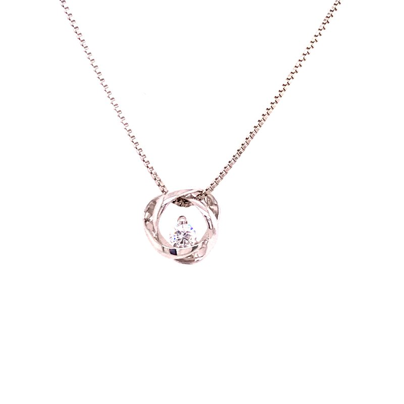 Whistler Diamond Love Knot Pendant