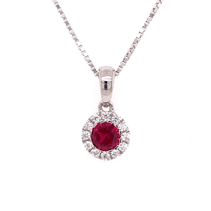 Colored Stone Fashion Created Ruby Pendant