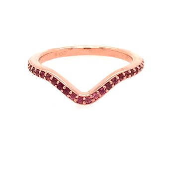 Pink Tourmaline Curved Ring