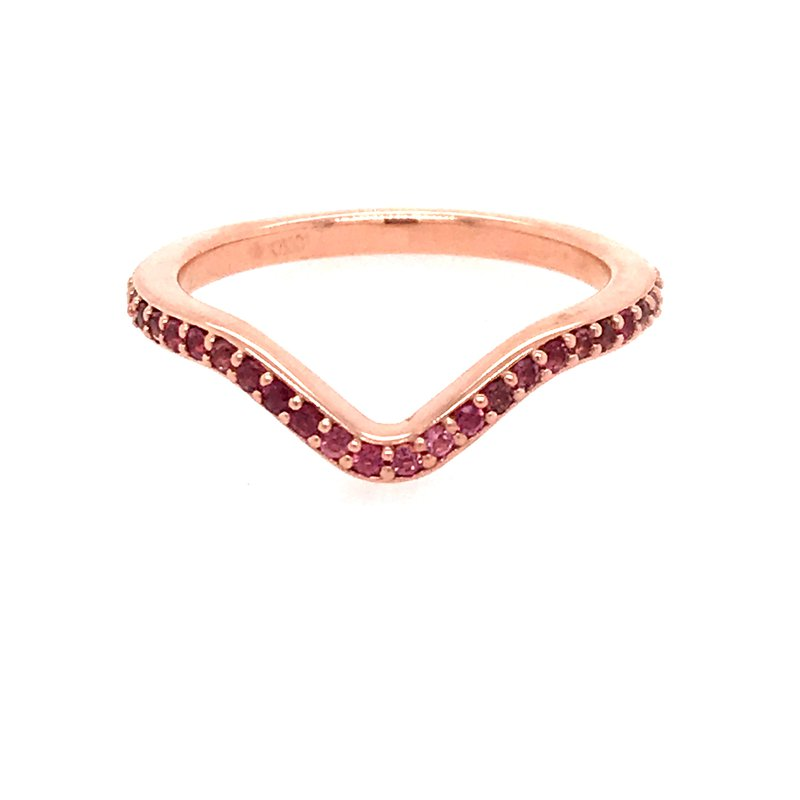Dean's Bridal Pink Tourmaline Curved Ring