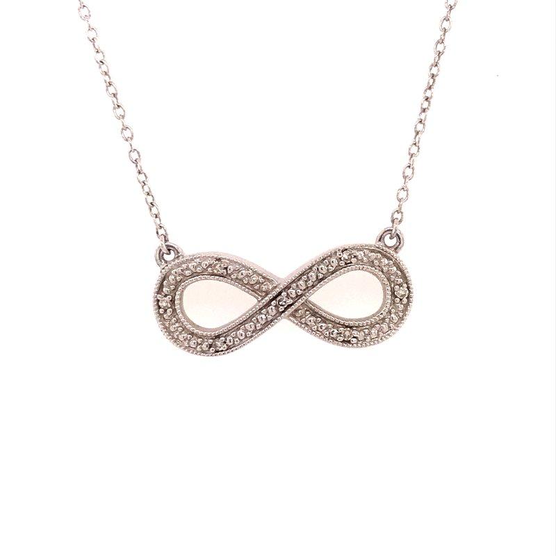Diamond Fashion Infinity Pendant