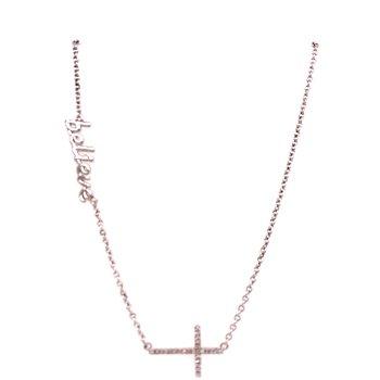 Believe Cross Pendant