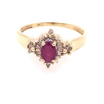 Ruby and Diamond Fashion Ring