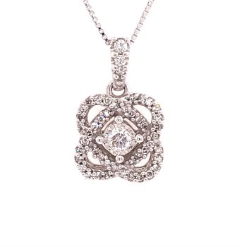 Hearts United Diamond Pendant