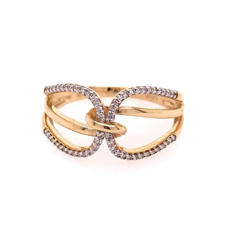 Diamond Fashion Interlocking Ring
