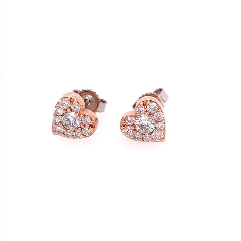 Diamond Fashion Heart Earrings